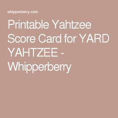 Keep Track Of All The Scores With This Triple Yahtzee Scoresheet