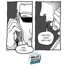Do you know who am I? #illustration #Phone #comics #ComicArt #storytelling #portrait #drawing #question #Hello