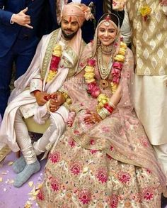 Wedding Pictures of Virat kohli and Anushka Sharma - And Yes they Did! Actress Anushka Sharma and cricketer Virat Kohli tied the knot in Italy on Monday. We have published the dreamy images of their wedding that will melt the heart of their fans. Bollywood Couples, Bollywood Celebrities, Bollywood Fashion, Bollywood Style, Anushka Sharma Virat Kohli, Virat And Anushka, Deepika Ranveer, Pink Lehenga, Bridal Lehenga
