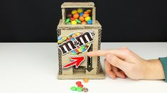 How to make a M&M's and Skittles CANDY DISPENSER MACHINE from CARDBOARD