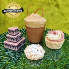 Three-tiered Henna Cake, Guinness Beer Float, Two-tone Rosette Cupcake, and Funnel Cake