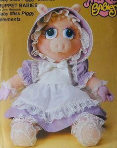 Miss Piggy Doll Clothes Sewing Pattern