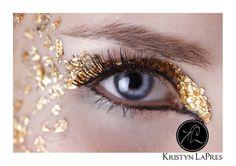 Gold Leaf Make up http://kristynlapresphotography.blogspot.com/2012/02/gold-leaf-make-up-fashion-photography.html