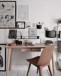 Children's desk space with Lisabo wooden desk and Odger chair / Cassie Chung Home Office Space, Desk Space, Home Office Design, Home Office Decor, Home Decor, Design Desk, Office Chic, Home Office Inspiration, Office Ideas