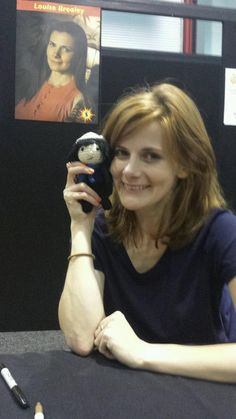 Louise Brealey!! With a knitted Sherlock doll -> https://twitter.com/louisebrealey
