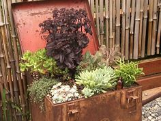 Recycling and repurposing is a great way to get rid of old junk.