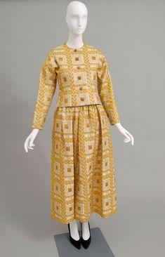 Woman's evening ensemble: jacket and skirt | Label: Lanvin, Paris | France, circa 1970's | Silk and gold metallic brocade | Philadelphia Museum of Art