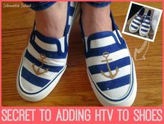 How to Add HTV to Shoes! (Silhouette Tutorial) ~ Silhouette School