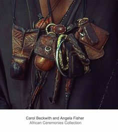 Africa | Details; Wodaabe man's talismans. Niger. | ©Carol Beckwith and Angela Fisher