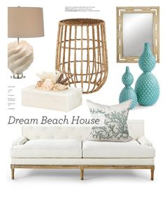 """""""Beach House"""" by kathykuohome ❤ liked on Polyvore featuring interior, interiors, interior design, home, home decor, interior decorating, Balmain, beachhouse and livingroomdecor"""