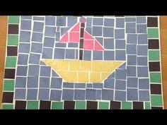 Mosaic Art Projects, Mosaic Crafts, Fun Arts And Crafts, Diy Crafts, Mosaics For Kids, Mosaic Maker, Easy Mosaic, Kids Things To Do, Roman Art