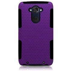 Hybrid Mesh Astronoot Motorola Droid Turbo Case - Purple/Black