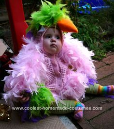 Parrot Baby Costume... This website is the Pinterest of costumes
