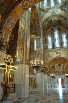 A Miracle of Liturgical Art: The Church of the Protection of the Mother of God at Yasenevo – Orthodox Arts Journal Byzantine Architecture, Russian Architecture, Church Architecture, Palatine Chapel, Orthodox Prayers, Orthodox Christianity, Church Interior, Religion, Cathedral Church