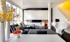 ultimamente mi paleta de colores preferida para interiores :) gris, blanco y amarillo 100% :D