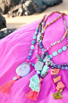 boho necklaces || Azizeh Designer Necklaces