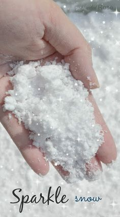 Make your own SPARKLE snow for glorious Winter play.  This stuff is so fun we could not keep our hands out of it!    It is cold, super fluffy, mold-able, ultra sparkly, and SO SOFT!  Visit pinterest.com/arktherapeutic for more #sensoryplay ideas