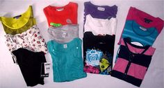 Big Lot Girls Tshirts Tops Shirts Justice Lacoste Ivy Moon Size 12 14 | eBay