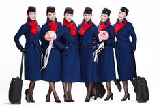 TheDesignAir – The world's leading resource for aviation design and product news Airline Uniforms, Mandarin Collar Shirt, Black Leather Gloves, Uniform Design, Prabal Gurung, Tailored Suits, Cabin Crew, Flight Attendant, Collar Shirts