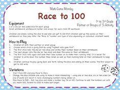 Race to 100! Freebie Game