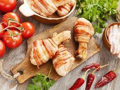 Egy finom Baconbe göngyölt csirkecomb ebédre vagy vacsorára? Baconbe göngyölt csirkecomb Receptek a Mindmegette.hu Recept gyűjteményében! Okra, Gnocchi, Bacon, Baked Potato, Sausage, Potatoes, Mexican, Chicken, Ethnic Recipes