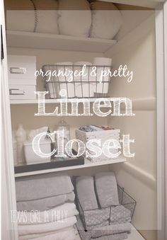 How To Fold Sheets: Duo Ventures: Organizing: The Linen Closet |  Organization | Pinterest | Organizing, Linens And Organizations