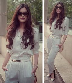 Image about diana penty in Bollywood by Didi Classy Outfits, Trendy Outfits, Fashion Outfits, Fashion Clothes, Teen Fashion, How To Wear Joggers, Diana Penty, Indian Designer Outfits, Bollywood Fashion