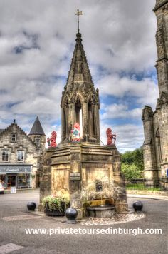The Bruce Fountain , Falkland features in our Outlander tours. Falkland was Inverness in the first three episodes of series one . One day and half day tours from Edinburgh Outlander Tour, Outlander Tv Series, Wentworth Prison, Scotland Tours, Fort William, Inverness, Filming Locations, Day Tours, Edinburgh