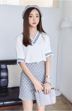 Korean fashion chiffon shirt - AddOneClothing - 1
