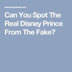 Can You Spot The Real Disney Prince From The Fake?