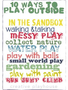 10 Simple Ways to Play Outside (Screen Free Week) Creative Playhouse