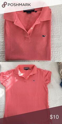 🐳Vineyard Vines🐳 Women's Polo Preppy, high quality collard shirt from Vineyard Vines. Perfect for golf or adding a pop of color to your prepster look! Vineyard Vines Tops