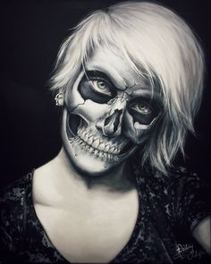 "he inspiration of Skull Halloween Makeup Ideas then you must read the full article. So just checkout Creepy Skull Halloween Makeup Ideas For You To Try"" Creepy Makeup, Fx Makeup, Cosplay Makeup, Costume Makeup, Makeup Ideas, Skeleton Makeup, Skull Makeup, Maquillaje Halloween Videos, Horror Make-up"
