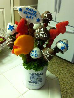 Cowboys fruit arrangement
