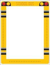 School Bus Computer Paper EU-812124 Eureka Design Paper/Computer Paper | K12 School Supplies | Teacher Supplies