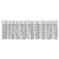 60″ wide x 15″ drop, Color: Café: 6315C-6015, White: 6315W-6015, Pesto: 6315PO-6015. 2.5″ Rod pocket. Fine-gauge lace. Made in USA. 100% polyester. Machine wash cold, gentle. Do n…