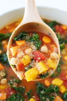 Fall Vegetable Quinoa Soup Recipe on twopeasandtheirpod.com This easy and healthy fall soup is perfect for a chilly day!