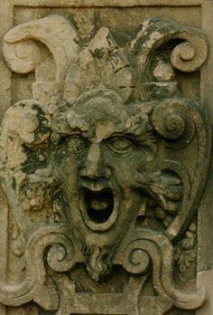 Carving at entrance to Schloß, Tübingen, Germany
