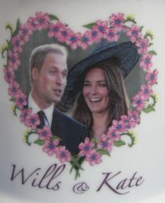 Prince William and Kate Engagement Mug English Bone China 2010 English Bone China