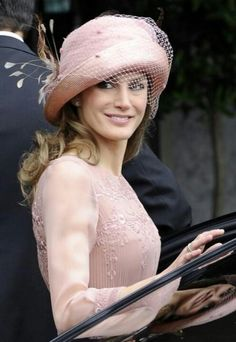 Pale pink & pretty...she looks beautiful in this hat..