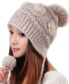 Knitted bomber hat