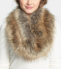 Gift it: Faux fur infinity scarf.