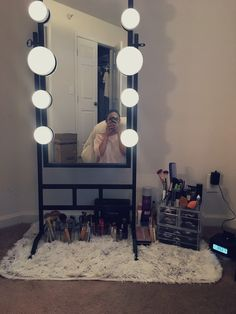 vanity idea for those who like to sit on the floor when doing their makeup!