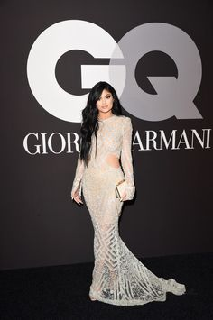 Kylie Jenner Photos - TV personality Kylie Jenner attends GQ and Giorgio Armani Grammys After Party at Hollywood Athletic Club on February 2015 in Hollywood, California. - GQ and Giorgio Armani Grammy Afterparty Kylie Jenner Height, Kendall E Kylie Jenner, Kylie Jenner Style, Kendall Jenner Outfits, Kylie Jenner Vestidos, Nice Dresses, Prom Dresses, Dresses With Sleeves, Iconic Dresses