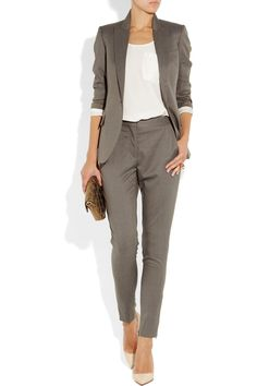 Stella McCartney | Velez wool skinny pants | NET-A-PORTER.COM