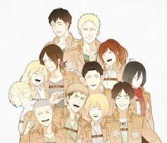Shingeki no Kyojin (SnK) // Attack on Titan (AoT) Armin, Mikasa, Attack On Titan Eren, Attack On Titan Fanart, M Anime, Fanarts Anime, Ereri, Kuroko, Christa Renz