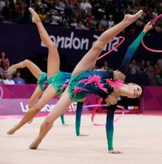The team from Belarus performs during the rhythmic gymnastics group all-around qualifications at the 2012 Summer Olympics, Friday, Aug. 10, 2012, in London. Photo: Julie Jacobson / AP