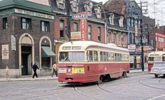 Toronto& main streets looked remarkably different in the Even as the city is more populated and vibrant today, the aesthetic of the urban l. Street Look, Main Street, Toronto Street, Toronto Ontario Canada, Toronto Photos, Old City, Public Transport, Model Trains, Places To Go