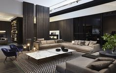 What to Expect From Inspirational Modern Living Room Designs? Living Room Modern, Living Room Interior, Home And Living, Living Room Designs, Living Room Decor, Morden Living Room, Modern Sofa, Modern Furniture, Modern House Design