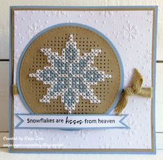 """Anja Zom: Passe partout circles Cross stitch circle Designfolder extra Snow and ice crystals Happy Hollidays; """"French-language DMC booklet Noël that is such a book from Mango. Tiny Cross Stitch, Cross Stitch Kitchen, Cross Stitch Tree, Cross Stitch Cards, Cross Stitching, Cross Stitch Embroidery, Cross Stitch Patterns, Cross Stitch Christmas Cards, Christmas Cross"""